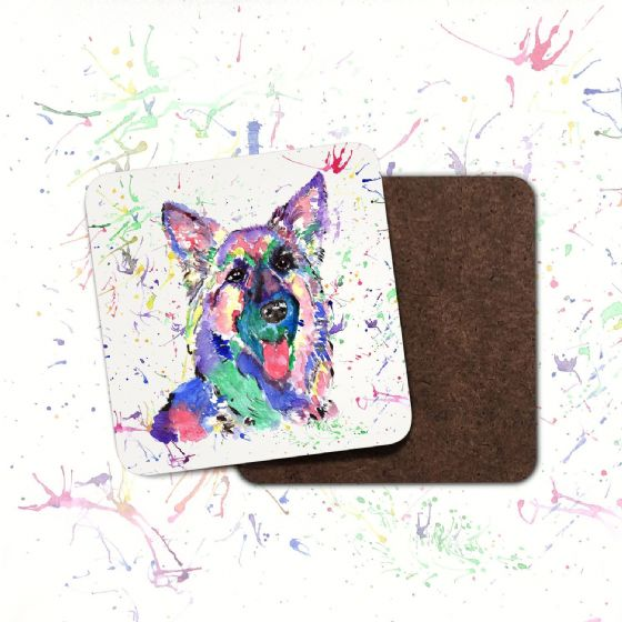 Hardboard Coaster (German shepherd)